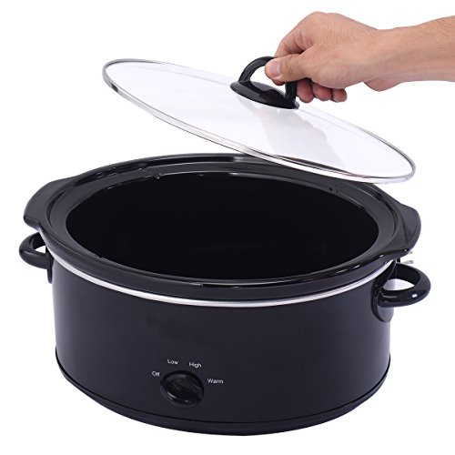 Costzon 7 Quart Large Oval Electric Programmable Slow Cooker Cookware Kitchen Home Black