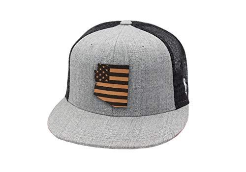 ff778f70f35 Jual Branded Bills 'Arizona Patriot' Leather Patch Hat Flat Trucker ...
