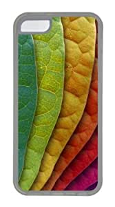 TYHde Colorful Leaves Custom iPhone 5/5s Case Cover TPU Transparent ending