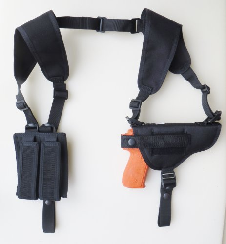 Gun Shoulder Holster with Double Mag Pouches for the Colt 45 & Springfield 1911 Pistols