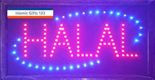 Islamic Gifts 123-USA Halal-Eid Mubarak-Open LED Sign LED Neon Light Open  Sign Highly Visible with Color Animation Power On/Off-Islamic Sign