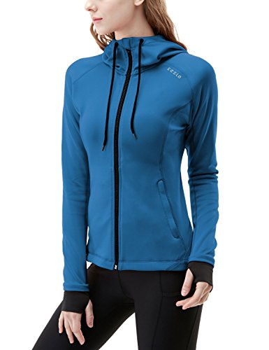 TSLA TM-FKJ04-PBL_X-Small Women's Lightweight Active Performance Full-Zip Hoodie Jacket FKJ04