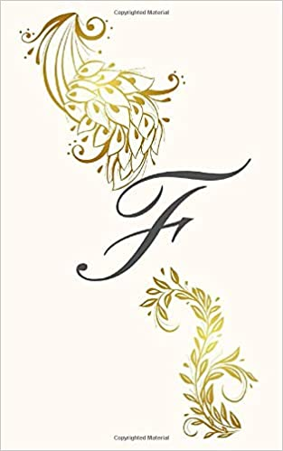 Monogram Notebook F Gold And Cream 180 Pages Lined Journal Alphabet Planners Nl Social Media 9798646799259 Amazon Com Books
