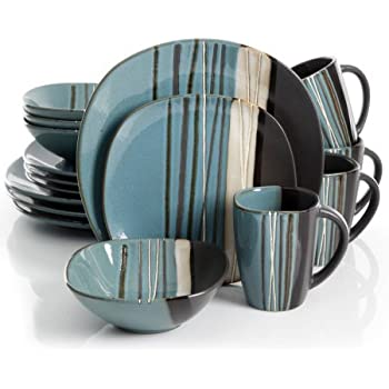 Better homes and gardens bazaar teal 16 piece - Better homes and gardens dish sets ...