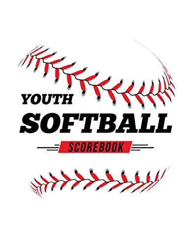 Youth Softball Scorebook: 100 Scoring Sheets For Baseball and Softball Games por Jose Waterhouse