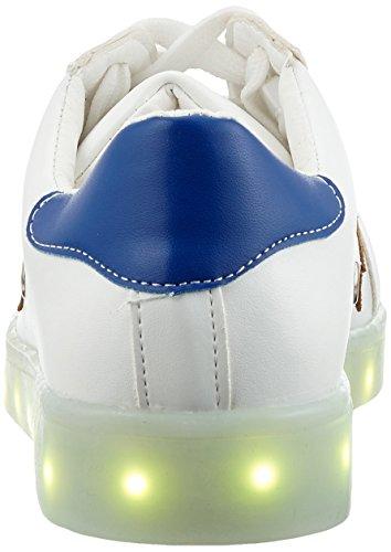 [Led chaussures]Nouvelle collection 2016 printemps basket blanc avec start noir chargement USB LED Light 7 Couleurs disponibles chaussures de sport Adulte Homme Femme-iisport