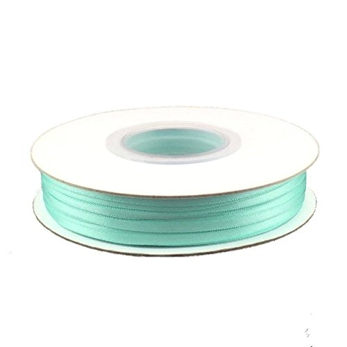 1/8in. Wide Double Faced Satin Ribbon - Aqua (100 yard spool)
