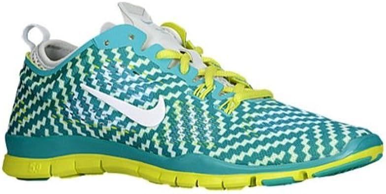 Dibujar Extranjero riqueza  Amazon.com | Nike Women's Free 5.0 Tr Fit 4 PRT TRB Grn/White/Vnm Grn/Pr  Pltnm Training Shoe 11.5 Women US | Running