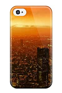 Best 5300990K58350819 Top Quality Case Cover For Iphone 4/4s Case With Nice Attractive Architecture Sunset Appearance