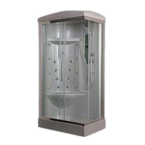 Cabina Doccia Multifunzione 70x90.Box Doccia Idromassaggio 70x90 18 Idrogetti Radio Luce Amazon