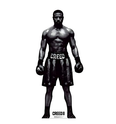 Adonis Poster - Advanced Graphics Black & White Adonis Creed Life Size Cardboard Cutout Standup - Creed II (2018 Film)