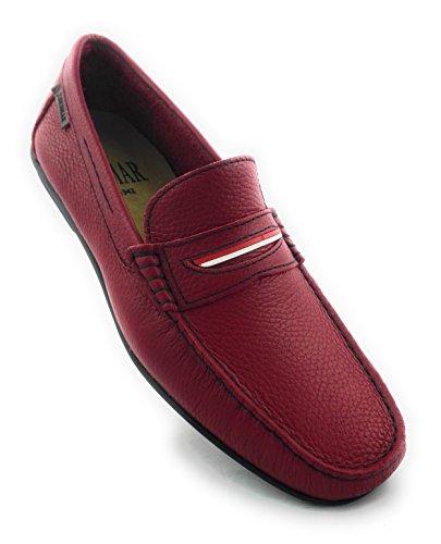 Zerimar | Zapatos Náuticos | Zapatos Náuticos de Hombre | Zapatos hombre cordones | Zapatos de Piel | Color Rojo | Talla 40