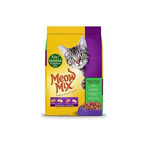 Doaaler(TM) Meow Mix Original Choice Dry Cat Food Heart Health and Oral Care Formula 24 lbs
