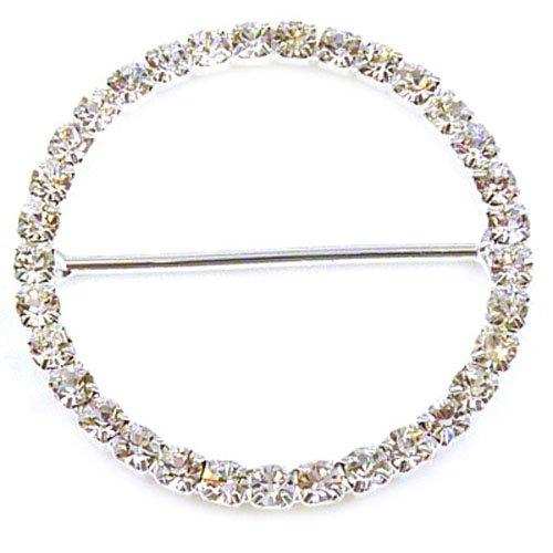 Simple rang/ée de strass Pynk Jewelry Bague de foulard Forme couronne