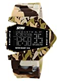Auspicious beginning Teens' unique waterproof LED Military plane design digital sports watch