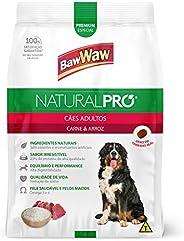 Ração Baw Waw Natural Pro para cães adultos sabor Carne e Arroz - 1kg