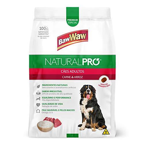 Baw Waw Natural Pró Alimento Para Cães Carne E Arroz - 6kg - Com Válvula Segurança