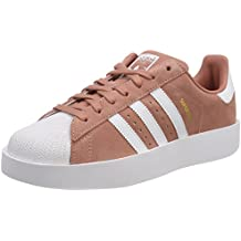 adidas Womens Superstar Bold Suede Trainers