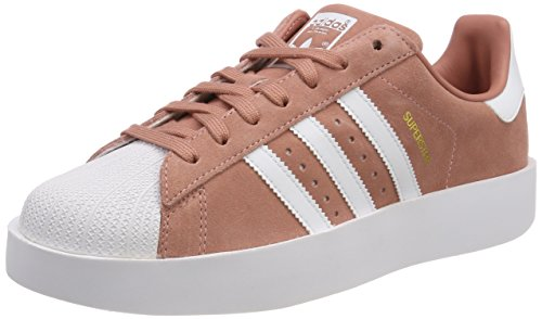 Adidas Originals Womens Superstar Femmes Daim Ash Rose Sneakers Blush Rose