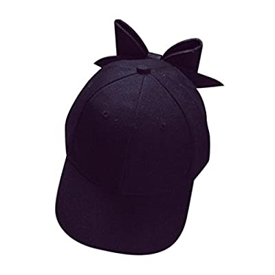 Creazrise Clearance! Women Bow Baseball Cap Girl Cute Blank Snapback Flat Hat Pink from Creazrise