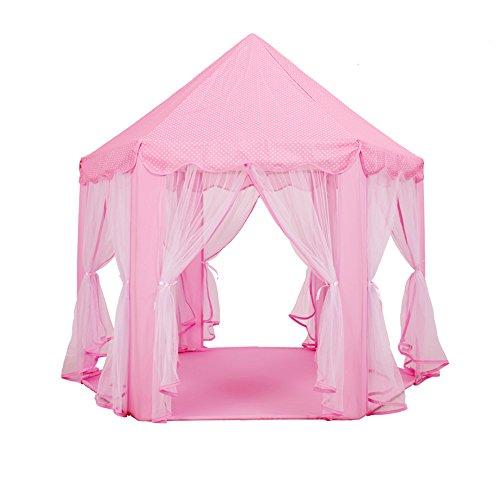 のスコアスケジュール宇宙子供のテントの家、赤ちゃんの王女の城、女の子のピンクの屋内テント、子供の教育玩具、遊ぶテント (色 : ピンク ぴんく)