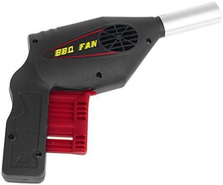 SIQIMI Ventilateur manuel souffleur d'air Barbecue Outils pressant Soufflet Portable Pistolet BBQ
