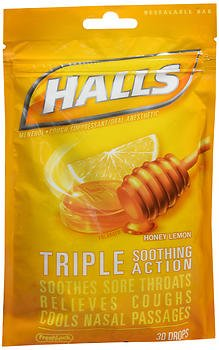- Halls Mentho-Lyptus Drops Honey-Lemon - 30 ct, Pack of 2
