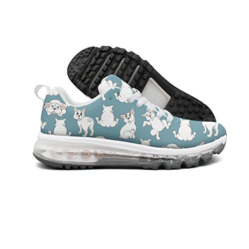 djghgpop Mens Guys Non-slip White French Bulldogs Traveling Air Cushion Athletic Shoes