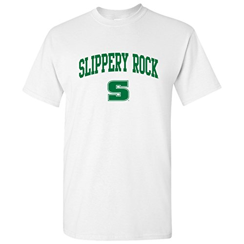 (AS03 - Slippery Rock University Arch Logo T-Shirt - Medium - White)