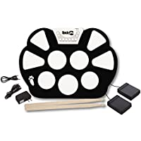 RockJam Portable Electronic Roll Up Drum Kit with Power...