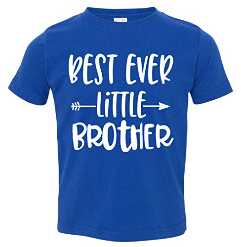 Tenacitee Toddler's Best Ever Little Brother Arrow T-Shirt, 5T / 6T, Royal Blue