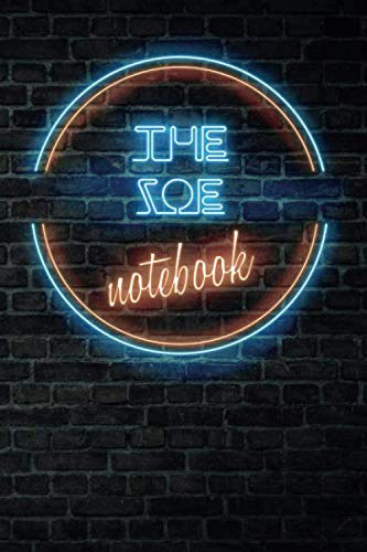 The ZOE Notebook: Vintage Blank Ruled Personalized & Custom Neon Sign Name Dotted Notebook Journal for Girls & Women. Wall Background. Funny Desk ... Supplies, Birthday, Christmas Gift for Women.