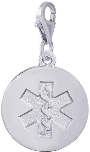 Medical Symbol Sterling Silver Charm - 4