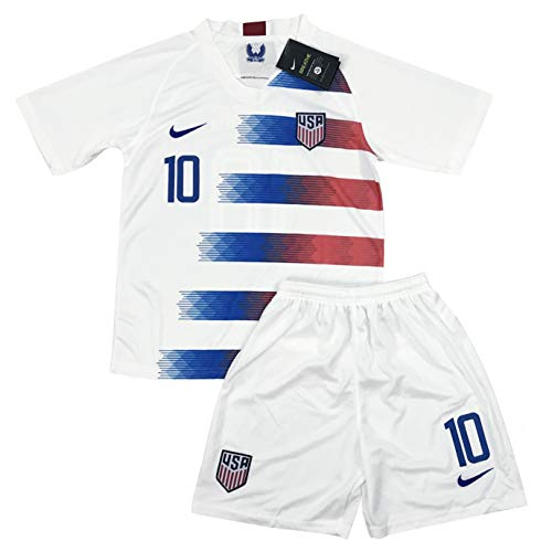 sale retailer 3cbba 33535 New 2018-2019 Carli Lloyd #10 USA National Team Home Soccer Jersey & Shorts  for Kids/Youths (Ages: 5-6)