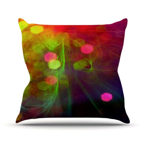 Kess InHouse Alison Coxon Dance Outdoor Throw Pillow, 18 by 18-Inch by Kess InHouse
