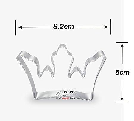Astra Gourmet - Juego de corona rey Reina Príncipe Princesa formas moldes para galletas de acero inoxidable cortador de Fondant Set: Amazon.es: Hogar