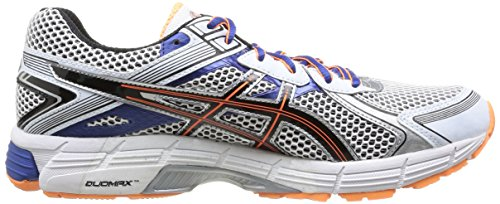 ASICS - Gt-1000 2, Scarpe Da Corsa da uomo 0190-white/Black/Flash Orange