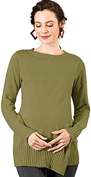 Sweet Mommy Organic Cotton Turtleneck Knit Tunic Top