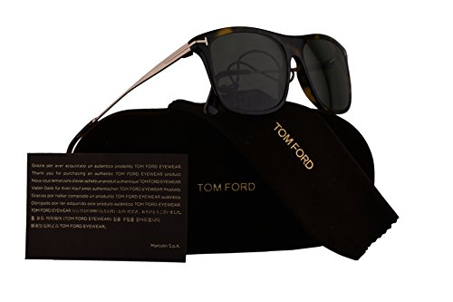 Tom Ford FT0588 Max-02 Sunglasses Dark Havana w/Polarized Green Lens 52R - Havana Max