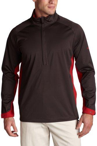 Nike Golf Men's Stormfit Half Zip Jacket  ( Tar/Varsity Red,  (Nike Windproof 1/2 Zip Jacket)