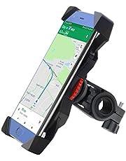 Soporte Móvil Bicicleta,FEYG Universal Soporte Movil Bici Moto Soporte Para Teléfono CelularRotación 360 Para Accesorios Para Bicicletas Compatible con 3,5 a 6,5 pulgadas todos los manillares para teléfonos móviles GPS para Teléfonos Inteligentes Otros Dispositivos