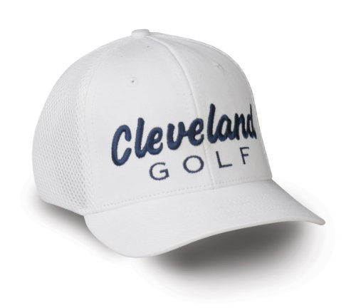 (Cleveland Golf Tour Mesh Tek Cap (White, Small/Medium))