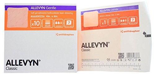 - Smith and Nephew 66800256 Allevyn Gentle Gel Dressing 4