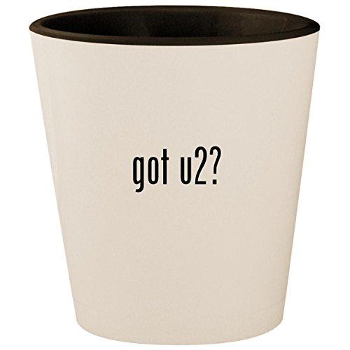 Used, got u2? - White Outer & Black Inner Ceramic 1.5oz Shot for sale  Delivered anywhere in USA