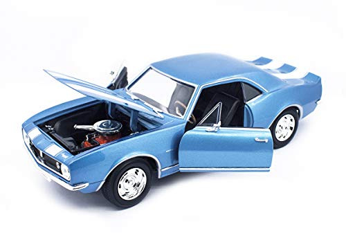 Road Signature 1967 Chevrolet Camaro Z/28 Metallic Blue with White Stripes 1/18 Diecast Model Car 92188