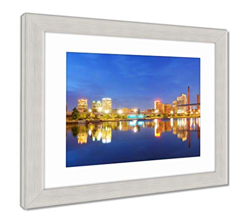 (Ashley Framed Prints Birmingham, Alabama Skyline, Wall Art Home Decoration, Color, 34x40 (Frame Size), Silver Frame, AG32675282)