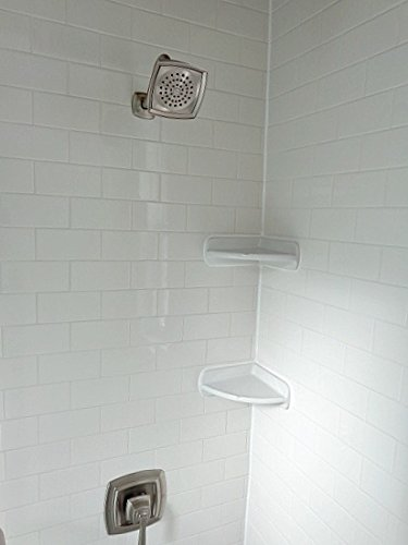 Daltile Corner Shower Shelf Wall Accessory White 8 1 2 Quot X8