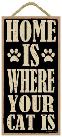 """SJT ENTERPRISES, INC. Home is Where Your Cat is 5"""" for sale  Delivered anywhere in USA"""