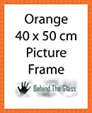 Product review for Handmade Orange Wooden Picture Frame - 40 x 50cm by Behind The Glass