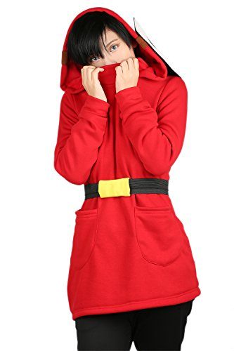 Xcoser Mens Shy Guy Cosplay Hoodie Sweatshirt Christmas Costume L -